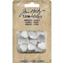 TH93681 Tim Holtz® Idea-ology™ Gumdrops 15/Pkg Clear Hearts